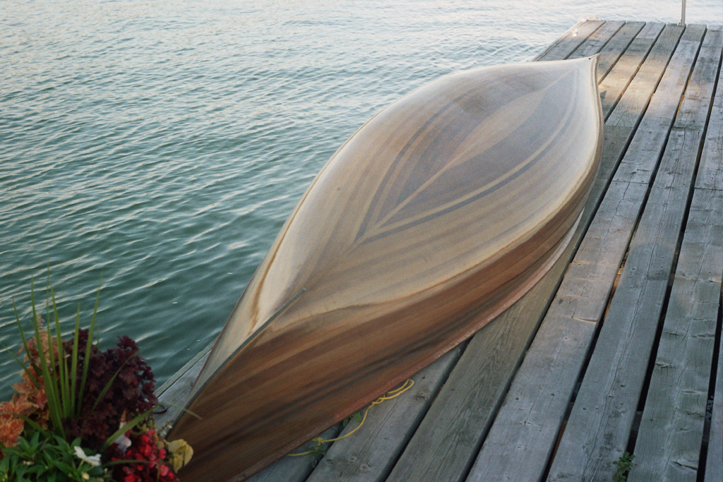 Cedar strip canoe example