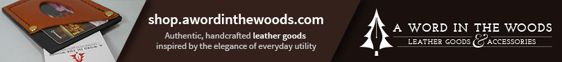 "Shop now at ""A Word in the Woods Leather Goods and Accessories"""