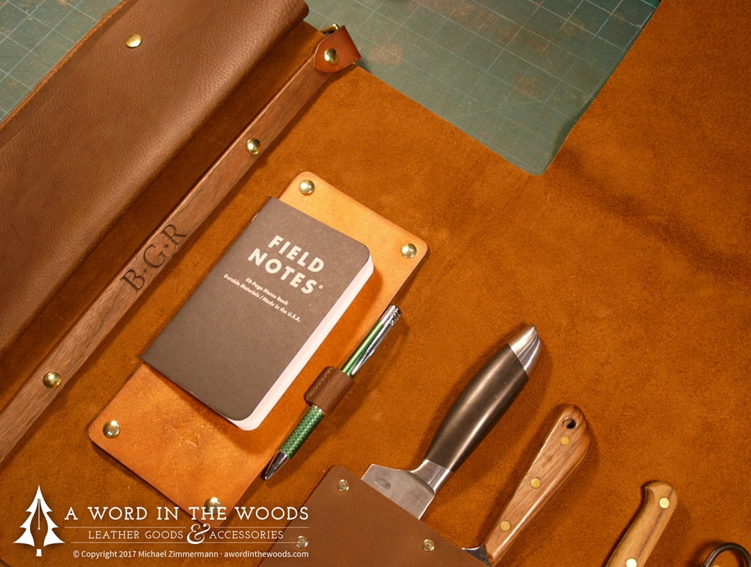 33faa81e055 How it's made: Leather knife roll [Part 1] - A Word in the Woods